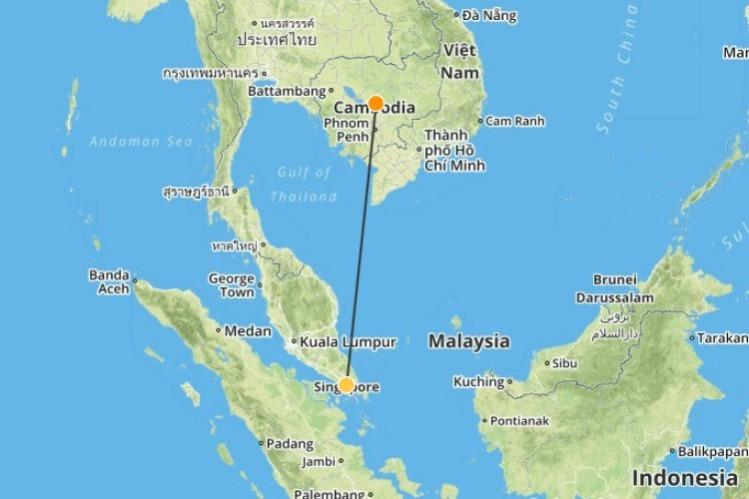 01 Singapore naar Cambodja