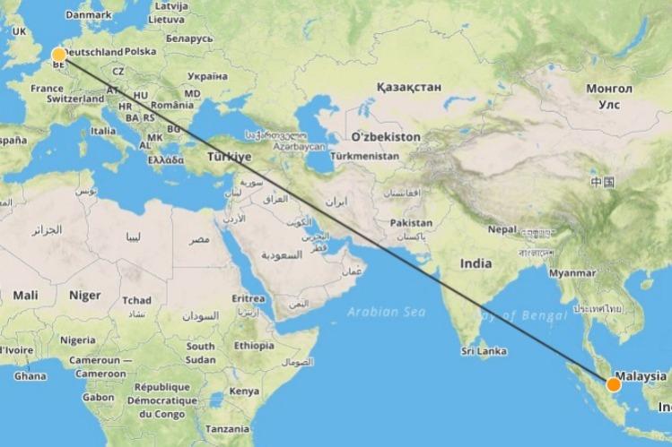 Nederland naar Singapore