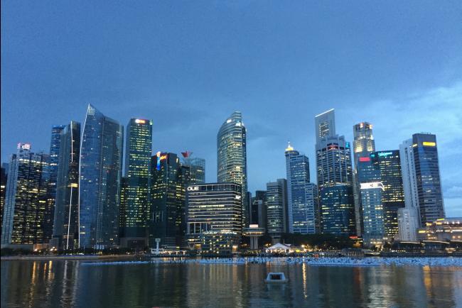 Uitzicht Singapore Marina Bay